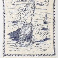 4040 Locust Scrimshaw Mermaid Tapestry - Urban Outfitters