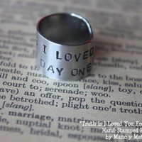 Truth Is I Loved You From DAY ONE by ManoyMetal on Etsy