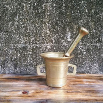 Vintage Bronze Large Apothecary Mortar and Pestle