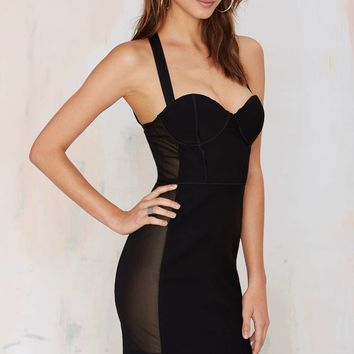 Nasty Gal Like a Hurricane Mesh Dress
