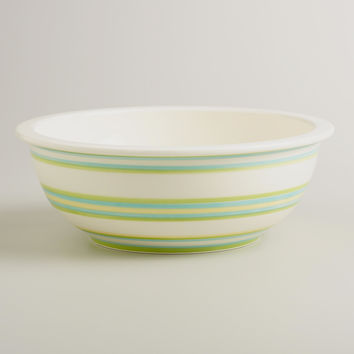 Spring Stripe Ceramic Mixing Bowl - World Market