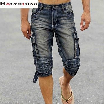 Famous Short Jeans Men Denim Blue Boy's Short Cotton knees shorts Fashion Men's Shorts fashion jean