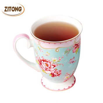 Porcelain Afternoon Tea Cups Royal Bone China Floral Tea Cup Creative Gift Coffee Cups And Mugs Zitong Ceramic Mugs Flower