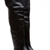 Year Round Essence Black Knee High Boots @ Cicihot Boots Catalog:women's winter boots,leather thigh high boots,black platform knee high boots,over the knee boots,Go Go boots,cowgirl boots,gladiator boots,womens dress boots,skirt boots.