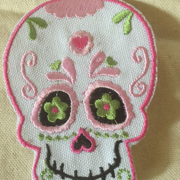 Sugar Skull Patch Skull Patch Cute Kids Patch Toddler Patch DIY tshirt Bookbag Pretty Patch