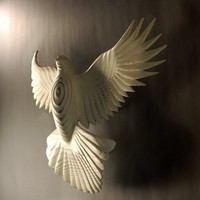 Peace Dove Wood sculpture by Jason Tennant by jasontennant on Etsy