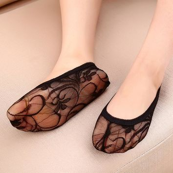 Fashion Women's Flower lace sock invisible Socks