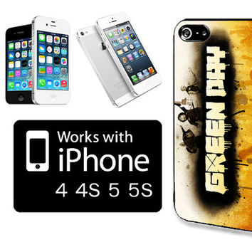 Green Day gnd4 Black Plastic Protective Case Cover for iPhone 4 / 4s / 5 / 5s