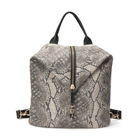 Snake Printed Backpack