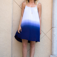Fade Secret Ombre Tank Dress- NAVY