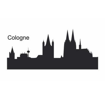 COLOGNE City Decal Landmark Skyline Wall Stickers Sketch Decals Poster Parede Home Decor Sticker