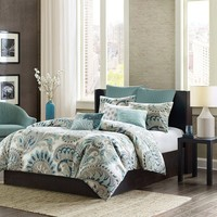 Ink+ivy Mira 3-pc. Duvet Cover Set (Blue)