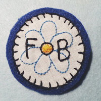 Floral Out Boy - Customizable Hand Embroidered Fall Out Boy Patch