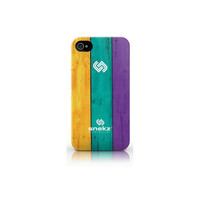 Painted Wood Six Design iPhone 4 and iPhone 4s case cover