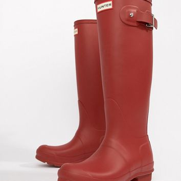 Hunter Red Original Tall Wellington Boots at asos.com