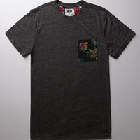 On The Byas - Star Wars Ewok Pocket Crew T-Shirt - Mens Tee - Gray