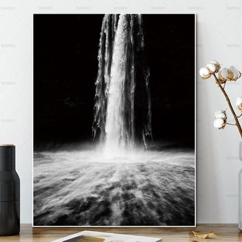 canvas painting Wall art pictures  no frame decor poster art prints Waterfall on canvas Wall Picture decoration for living room