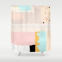 On the wall#3 Shower Curtain by RK // DESIGN