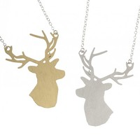 Ida: Stag head necklace from Ridley & Dowse | Made By Ridley & Dowse. Made in Englan | £37.50 | BOUF