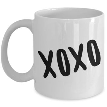 XOXO Cute Coffee Mug Ceramic Coffee Cup