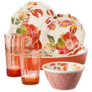 Threshold™ Floral Dinnerware Collection - Coral