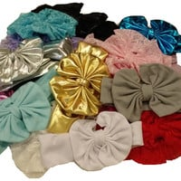 (3)pcs. Mix Big Bow Headband for Babies-Girls Headwraps