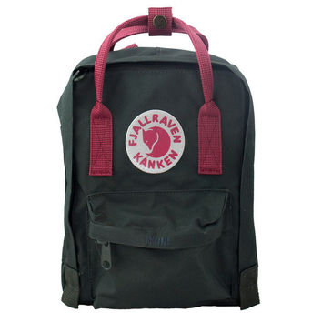 Kånken Mini Backpack - Forest Green & Ox Red