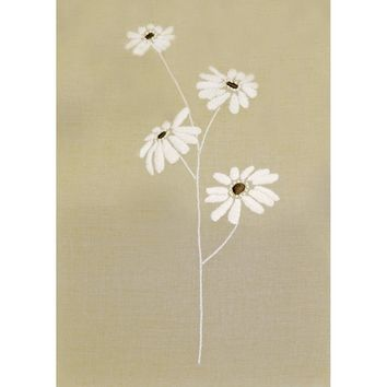 "Daisies-Stitched In Thread & Floss Design Works Candlewicking Kit 12""X16"""