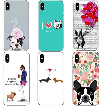 Super Cute Dachshund Hard Phone Case For iPhone X 8 8 More