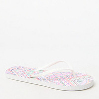 Me To We Tribal Print Eva Flip-Flops at PacSun.com