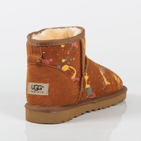 UGG 2018 new wild plus velvet booties thickened anti-skiing boots