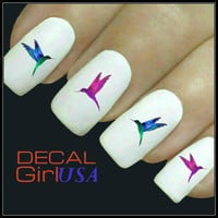 Hummingbirds Nail Art Decals 32 Hummingbirds Nail Decals