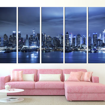 New York City Manhattan skyline wall art, extra large wall art, New York Large Canvas Print, Manhattan skyline wall art print canvas t260