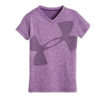 Under Armour Girls' Infant UA Cropped Glitter Logo Top