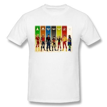 Young Justice Characters Cool Poster Mens Breathable Short Sleeve Tshirts