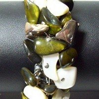 Vintage Mother of Pearl Cha Cha Bracelet