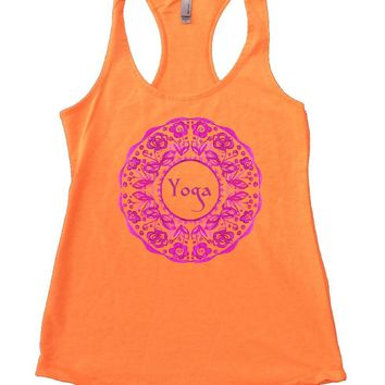 Yoga Design Flower Womens Workout Tank Top