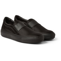 Acne Studios - Hans Bomber Satin Slip-On Sneakers | MR PORTER