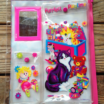 Vintage Lisa Frank three ring binder accessory