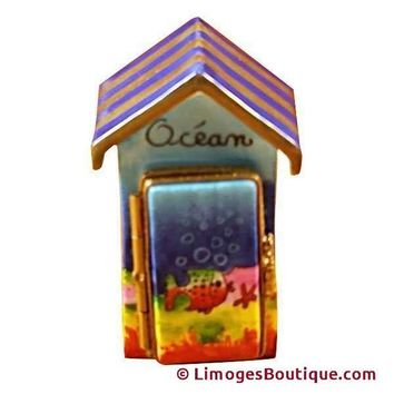 BEACH CABANA -OCEAN DECOR LIMOGES BOX