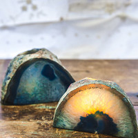 Soul Makes Agate Geode Candle Holder