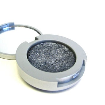 Charcoal Mineral Eye Shadow - Make-up Compact - Pressed Powder Eyeshadow - Silver Makeup