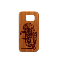 Real wood Samsung Galaxy S6 Case, Leopard Samsung Galaxy S6 Case, Wood Galaxy S6 Case