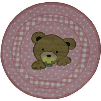 Fun Rugs Supreme Collection Teddy Center Pink Area Rug