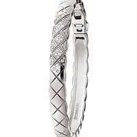 CHANEL Coco Crush 18K white gold and diamond bangle