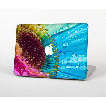"The Vibrant Colored Wet Flower Skin Set for the Apple MacBook Pro 13"" with Retina Display"
