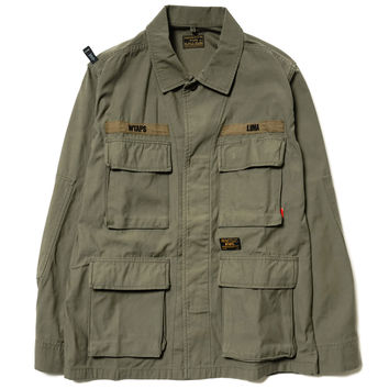 Jungle L/S / Shirt. Nyco. Satin Olive Drab
