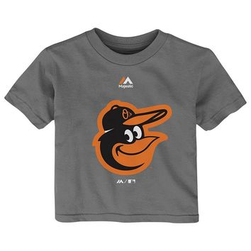 Majestic Baltimore Orioles Primary Logo Tee - Baby, Size: