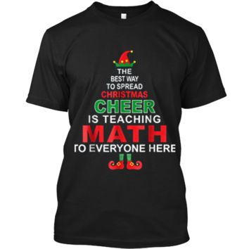 Math Teacher Christmas  - Elf Christmas Cheer Custom Ultra Cotton