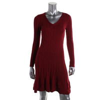 Studio M Womens Coralie Knit Textured Sweaterdress